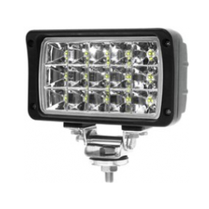 WL2500-F 6''x4'', 45W, 2500Lm output, 15 Cree LEDs, Flood beam, 6200K Pyramid Work Light