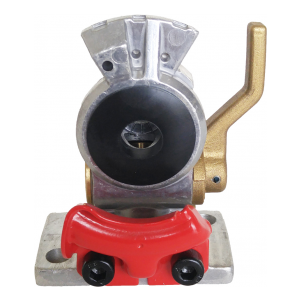 TR035152 Flange Mount Red Emergency Gladhand with Shut-off Valve