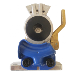 TR035151 Flange Mount Blue Service Gladhand with Shut-off Valve