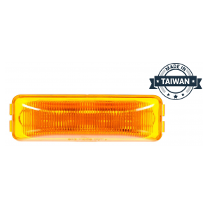 TR56127 LED, Yellow Rectangular, 4 Diode, Marker Clearance Light (Made in Taiwan)