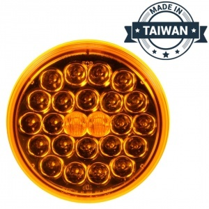 TR56129 LED, Yellow Round, 24 Diode, Front/Park/Turn Light (Made in Taiwan)