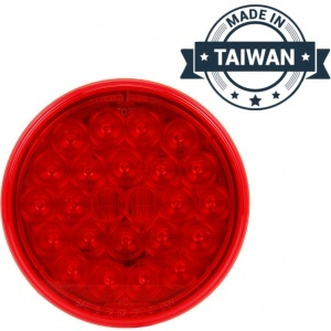 TR56130 LED, Red Round, 24 Diode, Front/Park/Turn Light (Made in Taiwan)
