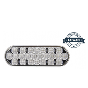 TR56134 LED, Clear Oval, 24 Diode, Front/Park/Turn Taillight (Made in Taiwan)
