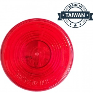 TR56148 Incandescent, Red Round, 1 Bulb, Marker Clearance Light (Made in Taiwan)